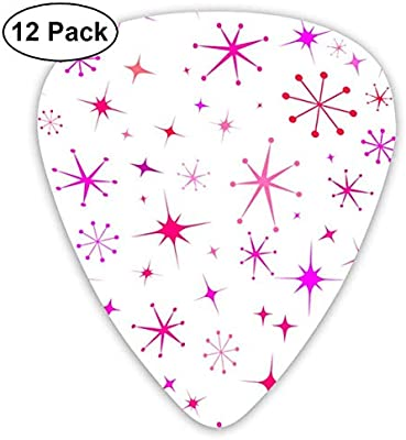 Atomic Starry Night In White + Mod Pink Classic Celluloid Picks ...