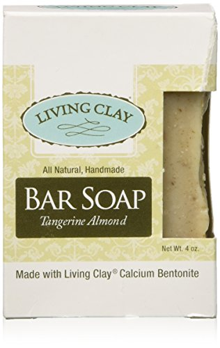 Tangerine Almond - Living Clay Bar Soap, Tangerine Almond, 4 Ounce