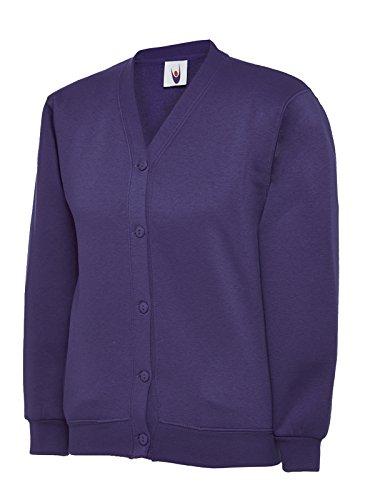 Uneek Clothing Kinder mit Plain-Form für Kleidung Kinder für die Schule Jersey Kimono Jacke In Der Oberseite und Seitentaschen auf dem Etikett mit Namen Purpur