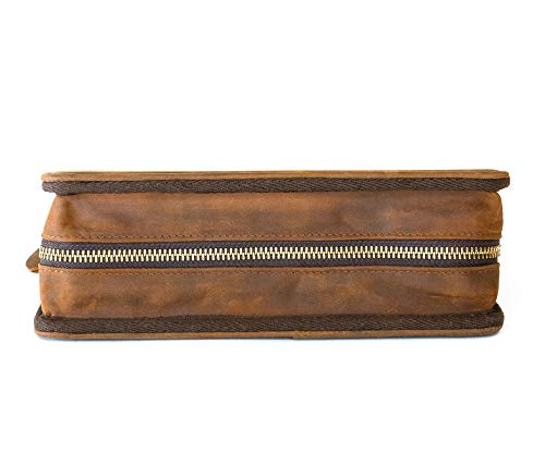 Wall St Smoker, Grand Genuine Leather Portable Travel Cigar Case, Holds 8-10 Double Gordo Cigars by Soul Beautiful (Image #6)