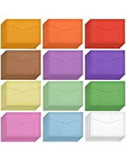 60 Pieces Mini Envelopes Coloured Envelopes Multi Color Cute Lovely Mini Envelope for Gift Card Wedding, Birthday Party Supplies, 4.6 x 3.2 Inch, 12 Colors