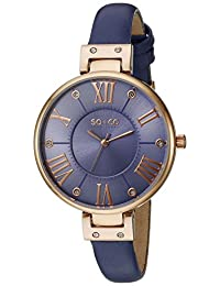 SO & CO New York Women's 5091.6 SoHo Analog Display Quartz Purple Watch