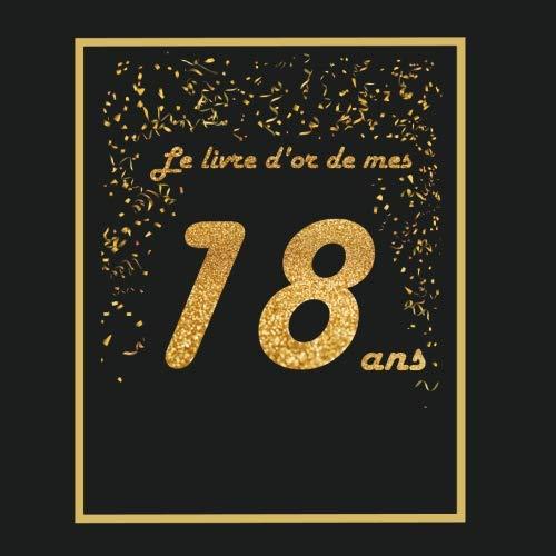 Le Livre Dor De Mes 18 Ans Thème Black Or Livre D