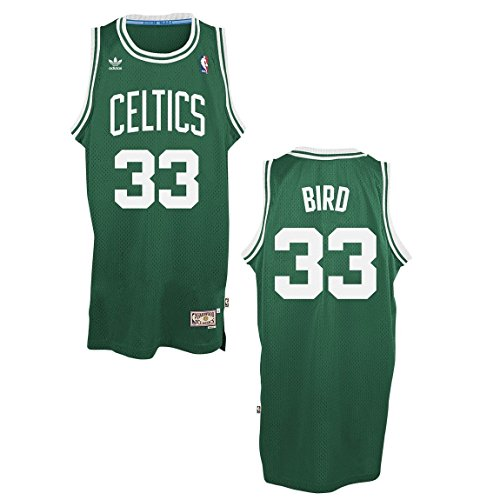 adidas Larry Bird Boston Celtics Green Throwback Swingman Jersey Large