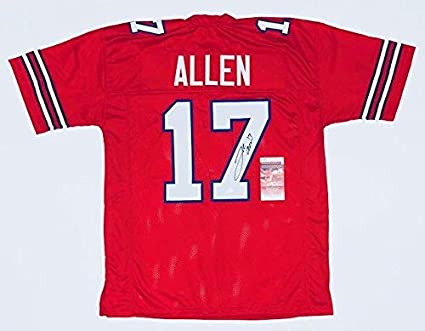 huge selection of aadc1 1a825 Josh Allen Signed Jersey - PRO STYLE w WITNESSED COA ...