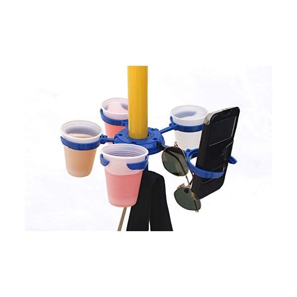 Speedymil Porta Bicchieri e Porta Borse per ombrelloni (Verde) 6 spesavip