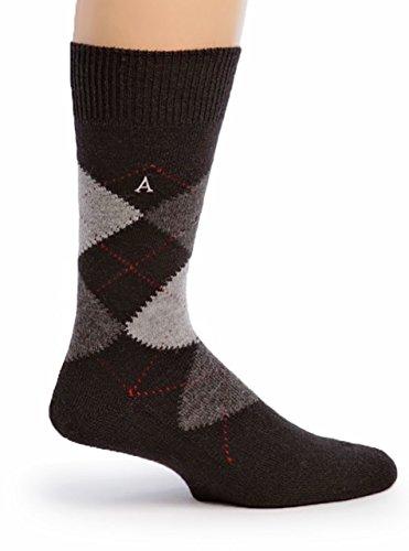 Warrior Alpaca Socks – Women's Argyle Premium Baby Alpaca Socks Black Argyle M
