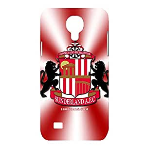 3D Personalized Style Football Club Patterbnred And White Stripe Hard Plastic Phone Case For Samsung Galaxy S4 mini Sunderland AFC Logo Print Design For Ladys