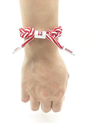TimeLogo Basketball Bracelet Shoelace Sports Gift NBA Team Wristband-hand-knitted adjustable bracelet (Red)