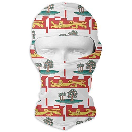 WD&rain Prince Edward Island Canada Flag Balaclava Face Mask Headwear Helmet Liner Gear Cycling Mask
