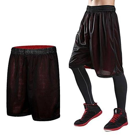 EF Athletics Baloncesto Pantalones Cortos Hombre Mujer corta doble ...