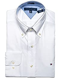 Men's Slim Fit Dress Shirt Long Sleeve Broadcloth with...