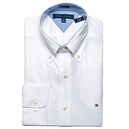 Slim Fit Dress Shirt Long Sleeve Broadcloth with Flag Logo (17