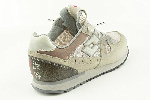 Schuhe nn232 Lotto Donna grau Gewebe BEIGE-MARRONE