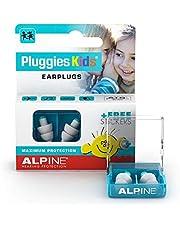 Alpine Pluggies Kids Oordoppen voor kinderen - Oordopjes voor kleine gehoorgangen - Voor Vliegen, Zwemmen en Concentratie - Comfortabel hypoallergeen materiaal - Herbruikbaar