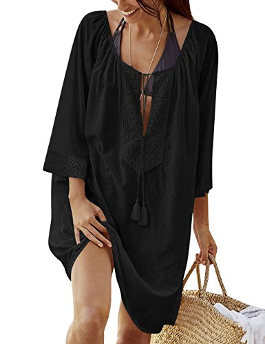 Walant-Womens-Swimsuit-Cover-up-Solid-Oversized-Bathing-Suit-Beach-Dress