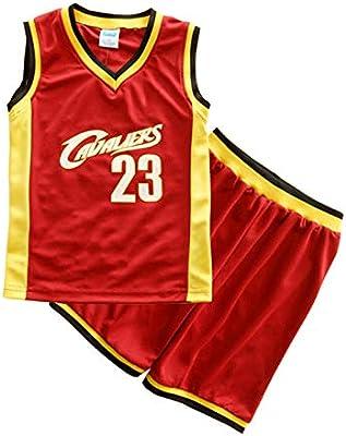 SKKQONG Traje de Ropa de Baloncesto Nino NBA Cavs #23 James ...