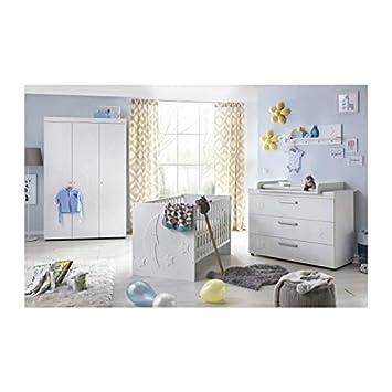 Olivia chambre bébé complète 3 pièces lit + armoire + commode ...