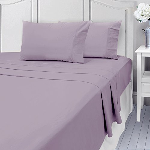 Grayson Home Luxury Bed Sheets Set - 400 Thread 100% Cotton Egyptian Like Quality - Queen, Lilac by Grayson Home