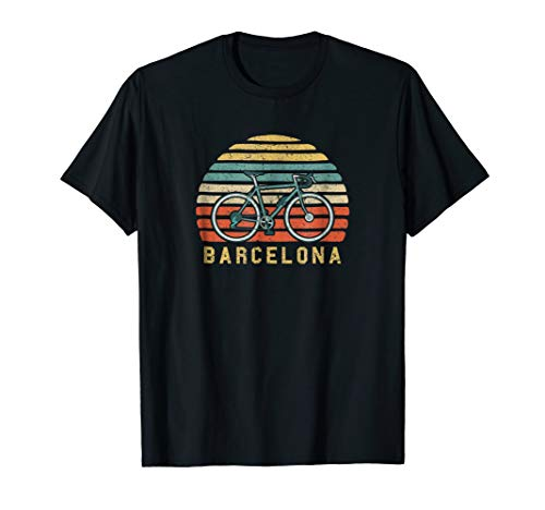 Vintage Retro Bike Barcelona Spain T-Shirt ()
