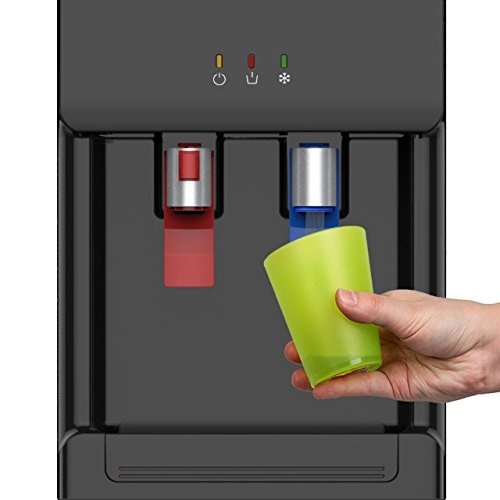Avalon Premium Hot/Cold Top Loading Countertop Water Cooler Dispenser With Child Safety Lock. UL/Energy Star Approved- Black by Avalon (Image #4)