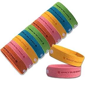 Braccialetto anti zanzare -12 pezzi di braccialetti anti-zanzare adatti per il viaggio, privi di sostanze tossiche o chimiche adatto sia per bbini che per gli adulti 6 spesavip