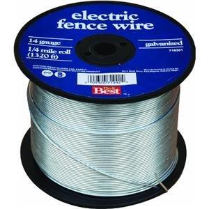 Keystone STL & Wire 85610 Elec Fence Wire, 14Gx1/4M