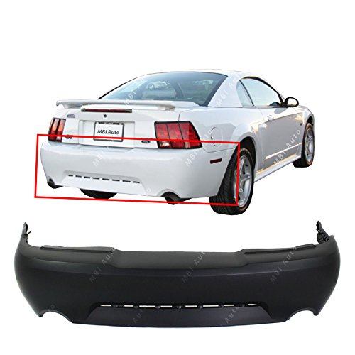(MBI AUTO - Primered, Rear Bumper Cover for 1999-2004 Ford Mustang GT/Mach 1 99-04, FO1100285)