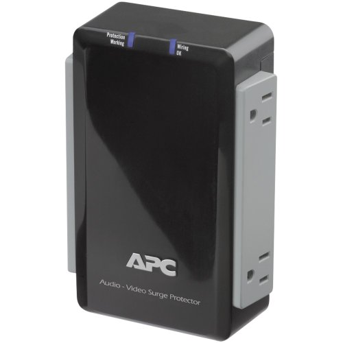 APC P4V Wall-Mount Surge Protector with Coaxial Protection (4 Outlet) Computers, Electronics, Office Supplies, Computing by APC
