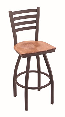 "Holland Bar Stool Co. 410 Jackie 36"" Bar Stool with Bronze Finish and Swivel Seat, Medium Maple from Holland Bar Stool Co."