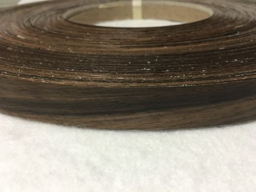 "Ebony pre glued 7/8""x25' Wood veneer edge banding from LG-TEC"