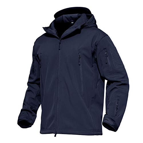 MAGCOMSEN Men's Winter Jacket Waterproof Jacket Tactical Militray Hunting Special Ops Jacket Camping Combat Coat Navy