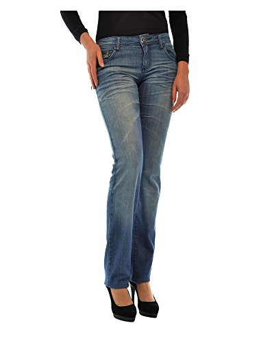 Donna Stile Jeans Yell Cuciture Circe A Contrasto PwO85xqg