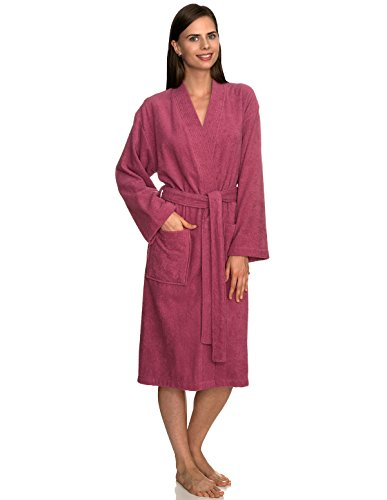 TowelSelections Women's Robe Turkish Cotton Terry Kimono Bathrobe Small/Medium Rose - Towel Junior