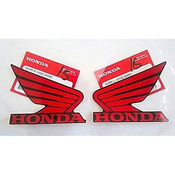 Honda wing Logo Vinyl Decal Gas Tank Sticker Motorcycle 80MM Silver Blue OEM