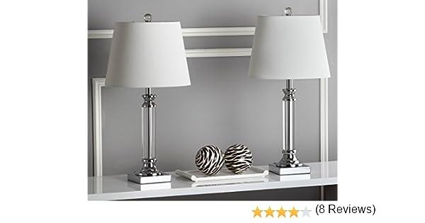 Safavieh Lighting Collection Zara Crystal - Lámpara de mesa (60 cm ...