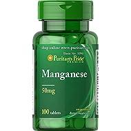 Puritan's Pride Manganese 50 mg-100 Tablets