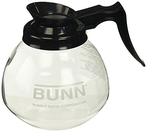 BUNN 12-Cup Glass Coffee Decanter, Black