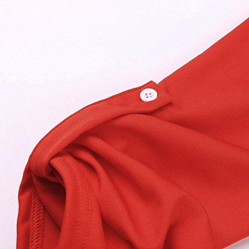 T Homebaby® Tumblr Corta Donna Estiva Elegante T Particolari Vintage Magliette Rosso Donna Tumblr Donna Cerniera Ragazza Shirt Corte Maglietta Shirt Top Manica UnUwgqSBrT