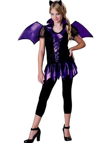 Ladies Bat Halloween Costume (InCharacter Costumes Girls Bat Reputation Costume, Purple/Black, Medium)