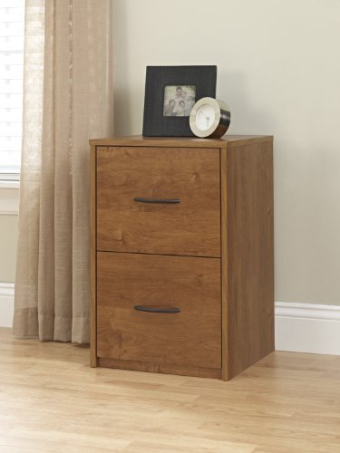 Ameriwood 2 Drawer Vertical Filing Cabinet - Bank Alder by Naruekrit