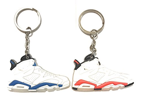 Shoe Sneaker Keychains AJ-6 Retro 2 Pack