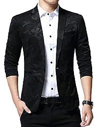 pujingge-CA Mens Casual Fashion Slim Fit Camo Print Blazer Coat Outwear