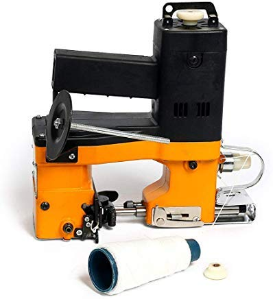 Esdiabiu Bag Closer, With One Coil Handheld Bag Sewing Machine With Automatic Secant Design Used as Electric Sealer and Stitcher For Woven Bag Paper Plastic Bag (110V)