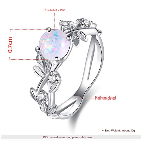 Tanakorn Flower Finger Rings Stainless Steel Rings for Women Opal Crystal Middle Ring Fashion Jewelry Wholesale Dropship 7