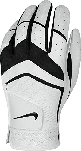 Men Golf Glove (Nike Men's Dura Feel Golf Glove (White), Large, Left Hand)