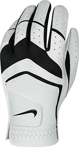 Men Golf Glove (Nike Men's Dura Feel Golf Glove (White), Large, Left Hand)