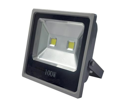 CYLED Flood light 100W, 250Watt HPS light (only 100W used!) pure white White (6000K) IP66 Energy Star flood light bulb