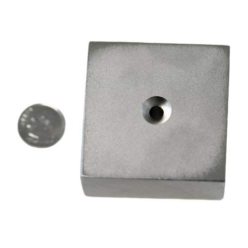 Applied Magnets 2'' x 2'' x 1'' Dual Sided Countersunk Grade N42 Neodymium Block Magnet by Applied Magnets