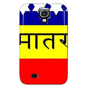 Shatterproof Red For Sumsang Galaxy S4 FLAG OF INDIA 1907 FLAG OF INDIA 1907 Protective Hard Case
